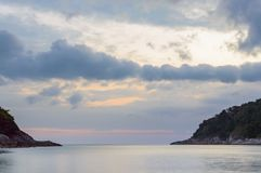 Sea bay in morning. Beautiful summer seascape.  royalty free stock photo