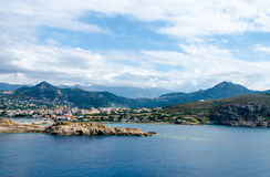 Sea bay with mountains Royalty Free Stock Photos