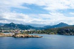 Sea bay with mountains. In Corsica Royalty Free Stock Photos
