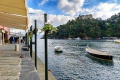 Sea bay near Portofino town in Liguria, Italy Stock Photos