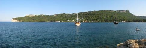 Sea bay panorama Stock Photos