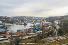 Sea Bay of Sevastopol. Royalty Free Stock Image
