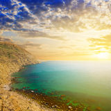 Sea bay at the sunset Royalty Free Stock Photography