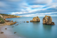 Sea bay with views of Albufeira. Royalty Free Stock Images