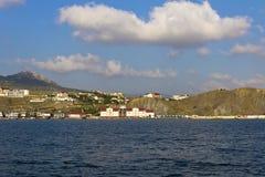 Sea,the Bay,the village of Koktebel. Stock Image