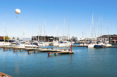 Sea bay with yachts Stock Images