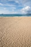 Sea Beach. See beach in May covered with footprints Stock Photography