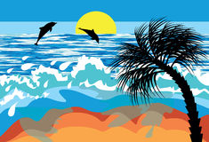 Sea beach Stock Images