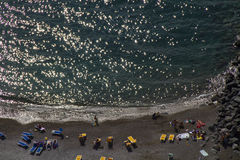 Sea. And beach in amalfi coast - italy stock photography