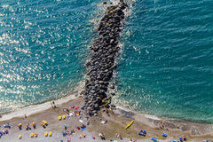 Sea. And beach in amalfi coast - italy stock photos