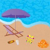Sea beach background Stock Photography