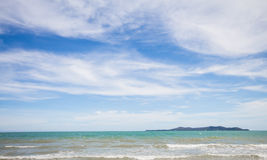 Sea beach and  blue sky Royalty Free Stock Images