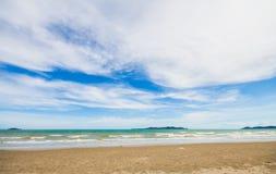 Sea beach and  blue sky Stock Photo