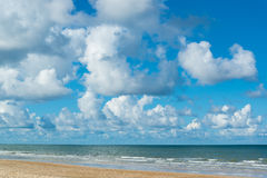 Sea beach. And blue sky sand sun daylight Royalty Free Stock Images