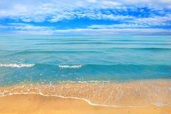 Sea beach blue sky sand sun daylight Stock Image