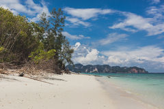 Sea beach blue sky sand sun daylight relaxation landscape, Phuket Thailand. royalty free stock images