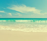 Sea beach blue sky sand sun daylight relaxation landscape viewpo. Int Royalty Free Stock Images