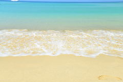 Sea beach blue sky sand sun daylight relaxation landscape viewpo Stock Photography