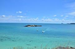 Sea beach blue sky sand sun daylight Royalty Free Stock Images