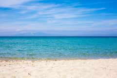 Sea, beach and blue sky summer vacation background Royalty Free Stock Images