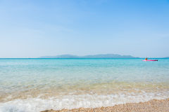 Sea beach blue sky and sunlight relaxation landscape Royalty Free Stock Photos