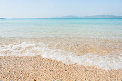Sea beach blue sky and sunlight relaxation landscape Stock Photography
