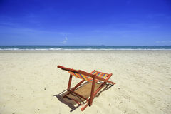 Sea beach and blue sky at Thailand Stock Images