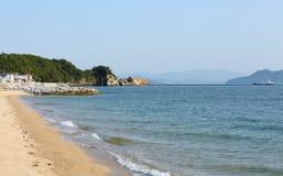 Sea and beach. Blue sea and white sandy beach Stock Photo