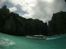 Sea beach boat. Ocean boat speed boat thailand sea-view Royalty Free Stock Photography