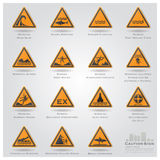 Sea And Beach Caution And Warning Sign Icons Set Royalty Free Stock Photo