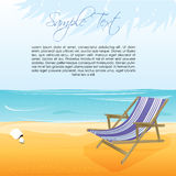Sea beach with chair. Illustration of sea beach with chair Royalty Free Stock Image