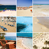 Sea & beach collage Royalty Free Stock Photography