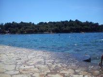 The Sea. Sea in a beach in Croatia Royalty Free Stock Photo