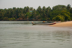 The sea and the beach in the evening. Goa state, India. Beauty beach landscape, evening. Goa state India Stock Image