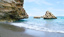 Sea beach. And the huge stones Royalty Free Stock Photo