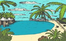 Sea beach illustration Royalty Free Stock Photography