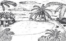 Sea beach illustration Royalty Free Stock Photo