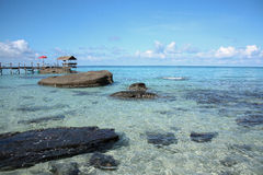 Sea beach on island. Beautiful landscape of sea beach on Kood Island in Trad, Thailand Stock Images