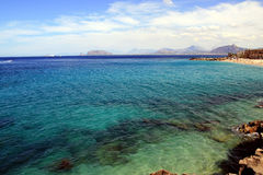 Sea & beach, Island of Sicily royalty free stock photos
