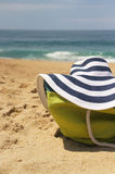Sea and beach items Stock Images
