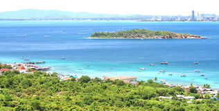 Sea beach on Koh Larn, Pattaya City in Thailand Royalty Free Stock Photography