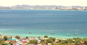 Sea beach on Koh Larn, Pattaya City in Thailand Stock Photos