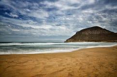 Sea and beach, long exposure shot Stock Photos
