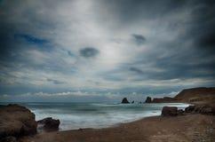 Sea and beach, long exposure shot Stock Image