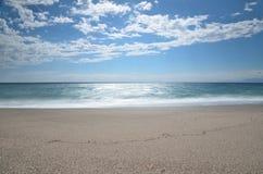 Sea and beach, long exposure shot Royalty Free Stock Photo