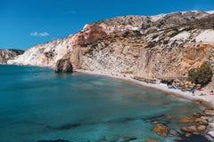 Sea beach in Milos island, Aegean sea. Royalty Free Stock Photography