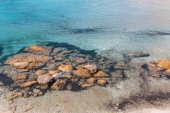 Sea beach in Milos island, Aegean sea Stock Image