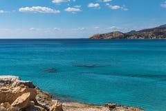 Sea beach in Milos island, Aegean sea, Greece. Nature. Stock Photos