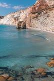 Sea beach in Milos island, Aegean sea, Greece. Nature. Stock Photo