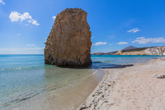 Sea beach in Milos island, Greece. Royalty Free Stock Image
